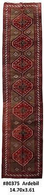 Persian Ardebil Carpet Cheap Rugs online Handmade Rug 4x15 Runner