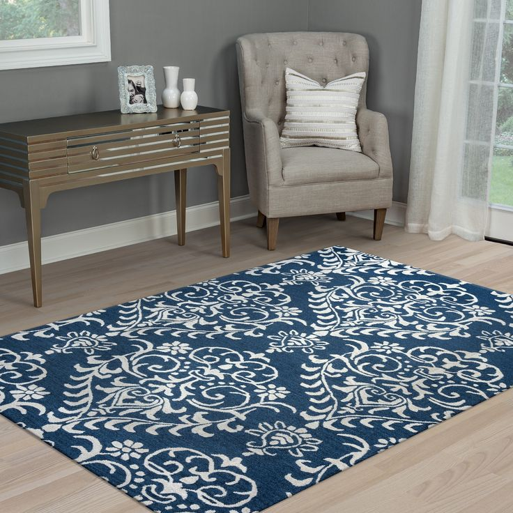 Black Graphic Woven Emerson Indoor Outdoor Area Rug: Arden Loft Falmouth Fields Indigo/ Beige Floral Hand