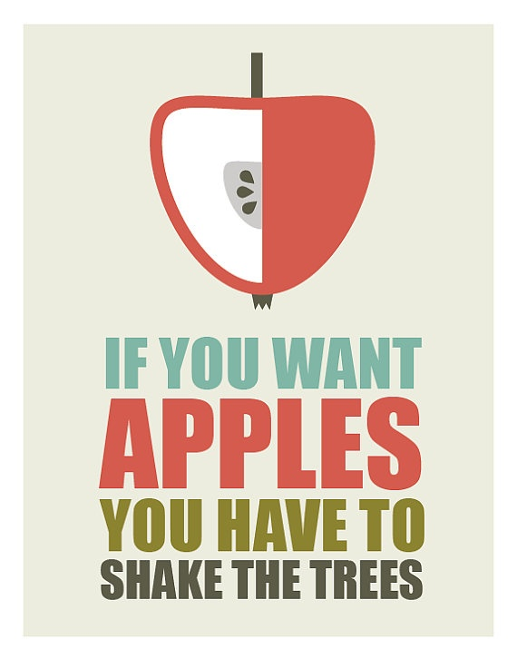 Inspirational quotes, quote prints, quote posters, happy art, typography poster, happiness , positive quotes, Apple Art Print
