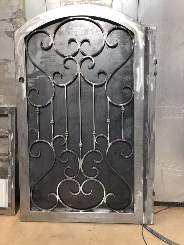 1200 Painted And Installed We Have Other Designs Also Wrought Iron Garden Gates Custom Iron Gates Iron Doors