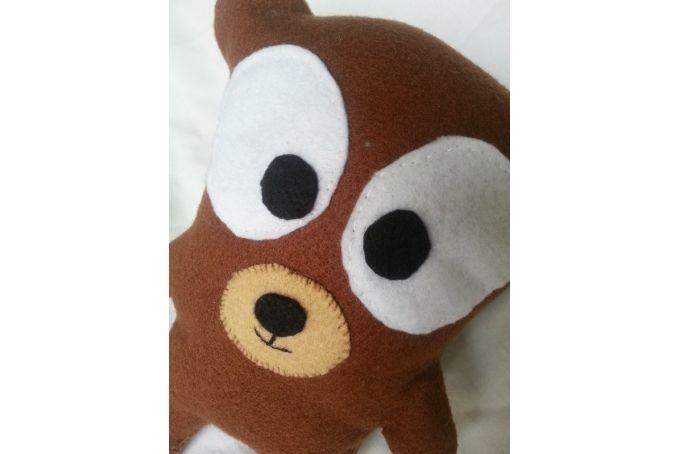 Handmade Brown felt Teddy Bear by Imagine Them - R100