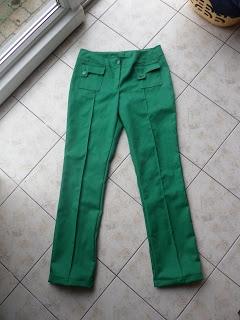 MaMarleen en co: Groene gabardine broek voor mezelf (gratis patroon burda)