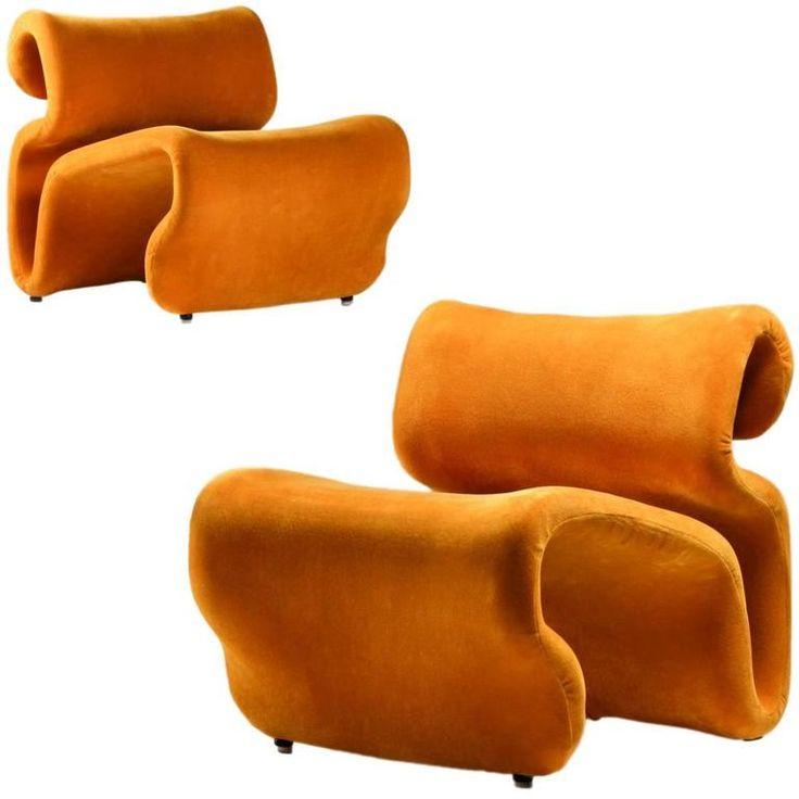 1970s Scandinavian Mustard Yellow Lounge Chairs  Et Cetera  by Jan Ekselius3640 best 20th century design images on Pinterest   Lounge chairs  . Modern Yellow Lounge Chair. Home Design Ideas