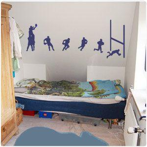 WHAAAAAAAAAAAT!? My child is having this! Rugby Union Wall Decal Stickers