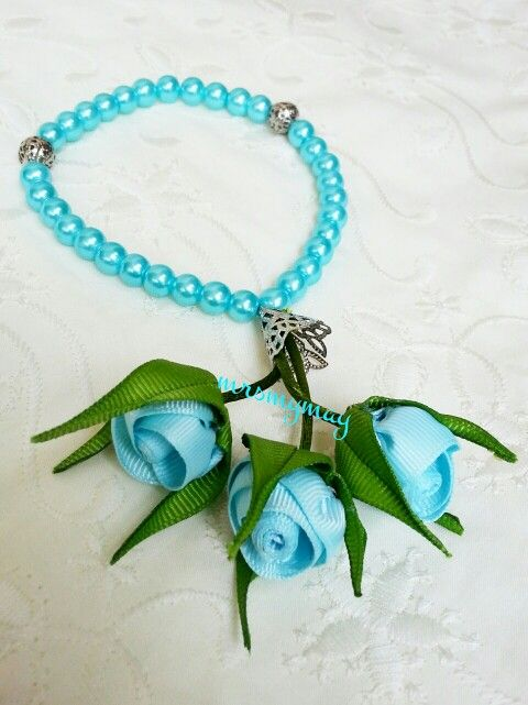 Tasbih with flower handmade.. inspiration and learn from nigar hikmet picture