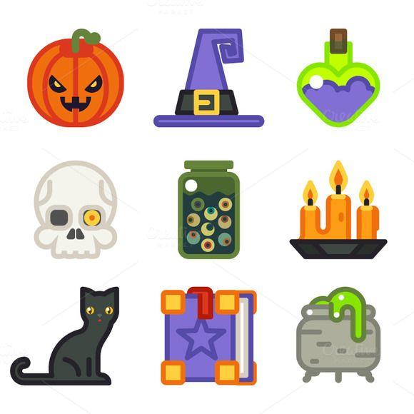 halloween icons  @creativework247