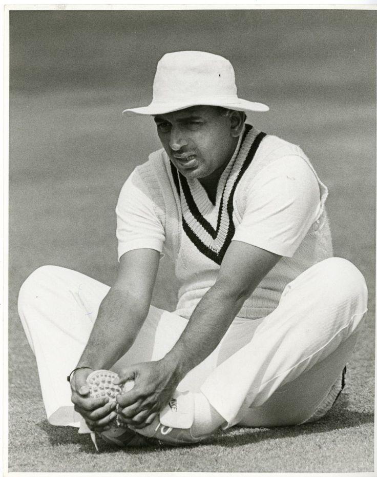 Inde, Delhi, Cricket, India v England, Sunil Gavaskar vintage print, India Tir