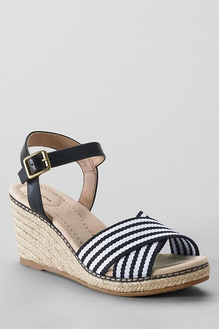 Black and white sandals from Land's End