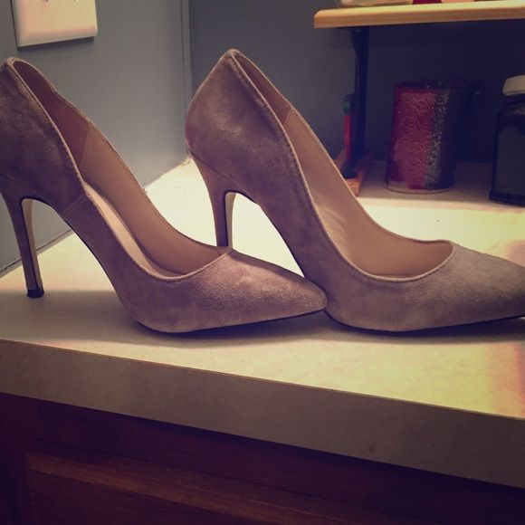Grey, Classic pump, shoemint 3 inch heels Great shoes. Worn once to an event and haven't needed them sense. Shoemint Shoes Heels