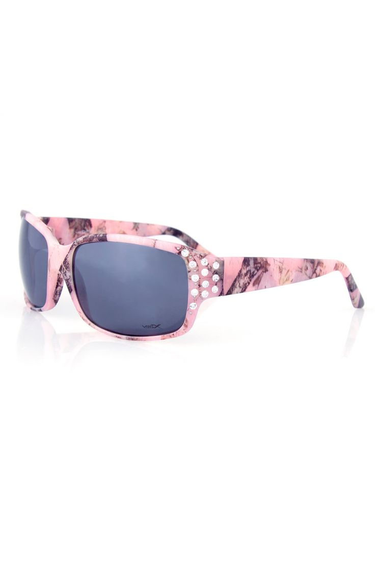 Country Girl Store - Women's Pink Camo Country Girl® Sunglasses w/Rhinestones, $18.95 (http://www.countrygirlstore.com/accessories/sunglasses/pink-camo-country-girl-sunglasses-w-rhinestones/)