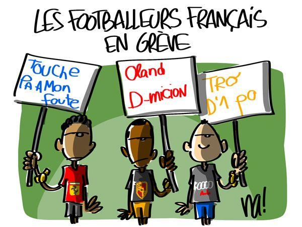 Grève des joueurs de foot