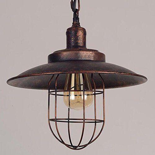 farmhouse iron mini pendant light vintage style iron cage pendant