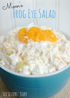 Moms Frog Eye Salad from Six Sisters' Stuff is perfect for any summer BBQ!