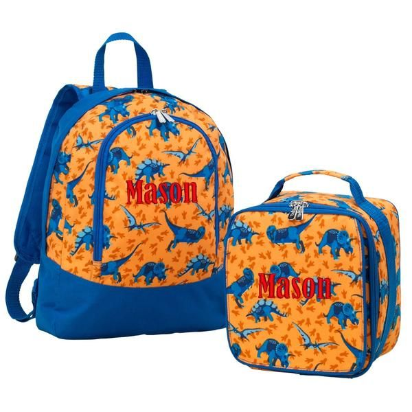 Personalized Preschool Dinosaur Matching Preschool Backpack
