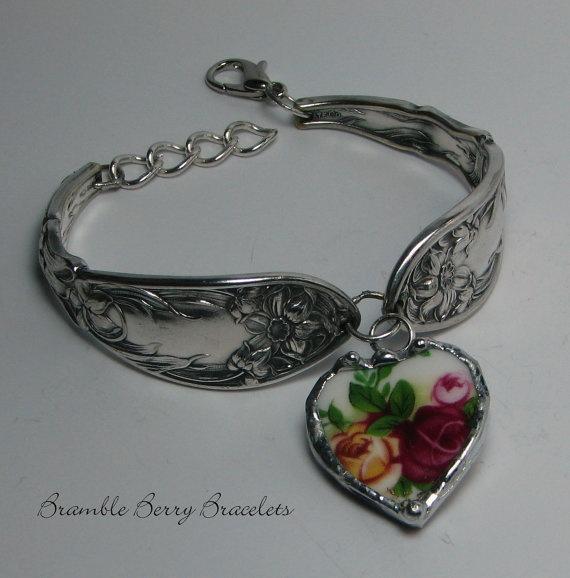 Spoon Bracelet  Vintage Bracelet  by brambleberrybracelet on Etsy, $36.00
