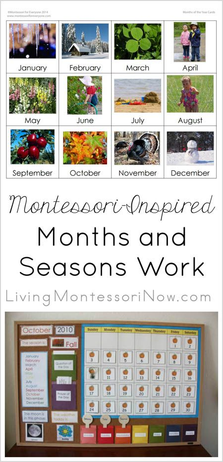Simple Magnetic or Velcro Calendar Activity Using Free Printables {Montessori Monday} - LivingMontessoriNow.com