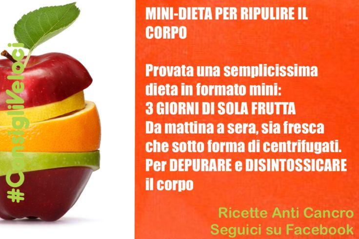 Mini dieta depurativa a base di frutta