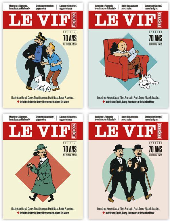 Le Vif - 70 ans du Journal Tintin