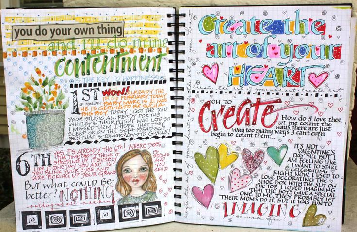 Daily art journal. LOVE.