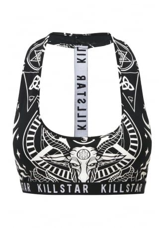 Pinterest: @MagicAndCats ☾ Killstar Black Mass T-Back Halter, £24.99