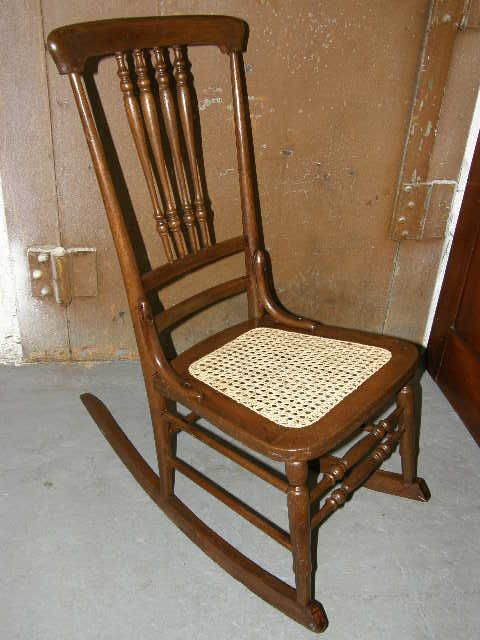 rocking chair cane patio cushions canadian tire antique oak bottom from stockade n stuff antiques keeping cool this summer on ruby lane pinterest and