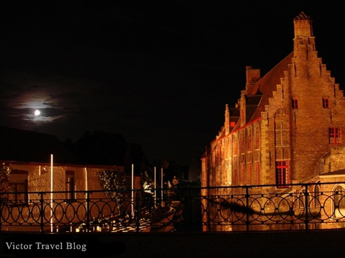 Photo of Bruges in Belgium: Night Photos, Photos Turning, Photos Session