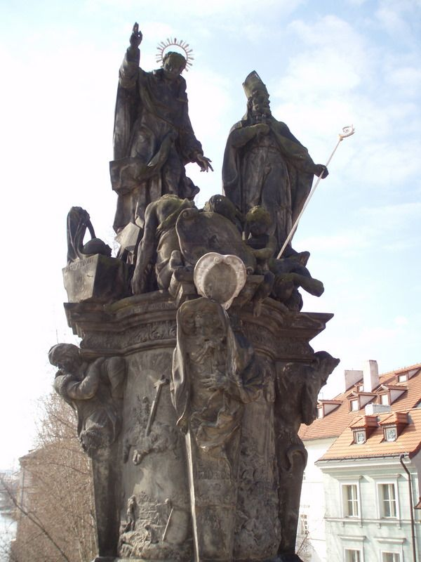 Photos of Charles Bridge South Side Statues: Statue of Saints Vincent Ferrer and Procopius on Charles Bridge