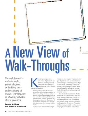 Educational Leadership - April 2013 - Page 42-43 A new view on an old practice. This looks awesome for PLC conversation.