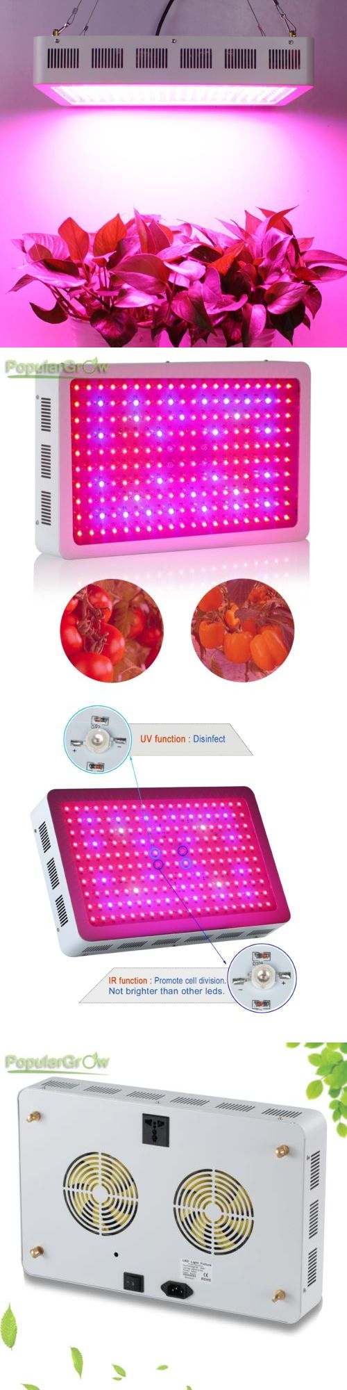 Grow Light Bulbs 178988: Populargrow 600W Full Spectrum Led Grow Light 3W Panel Hydroponic Plant Growth -> BUY IT NOW ONLY: $131.6 on eBay!