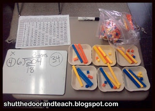 Teaching Long Division with Base Ten Blocks via Shut the Door and Teach #LongDivision