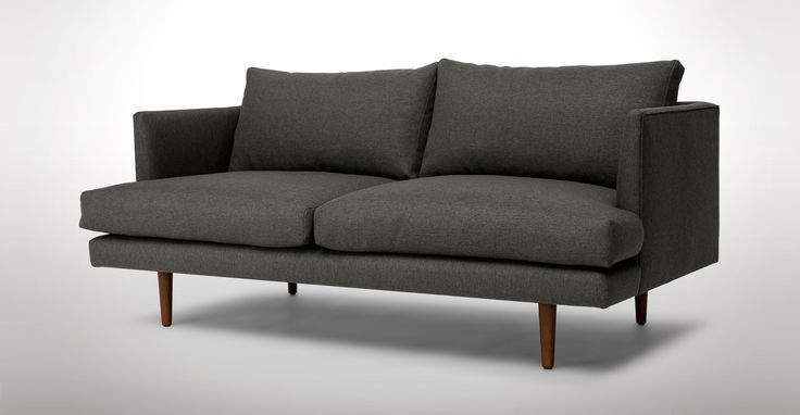 Burrard Graphite Grey Loveseat - Loveseats - Article | Modern, Mid-Century and Scandinavian Furniture