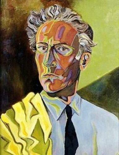 Jean Cocteau, Self-portrait, 1920s ~  French poet, actor, librettist, novelist, film director, and painter.