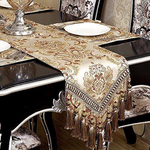 Modern Luxury Jacquard Fabric Floral Table Runners And Dr... https://www.amazon.com/dp/B01MTB3DVA/ref=cm_sw_r_pi_dp_x_X73xzbNCDD7V0