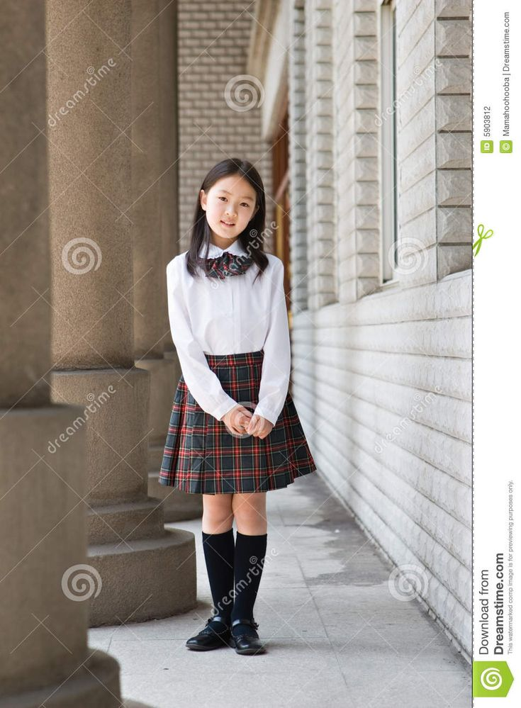 asian middle school girl