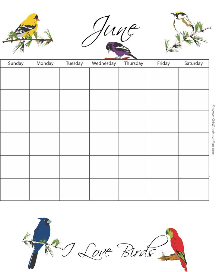 Best Printable Calendars Monthly Calendar Template Coloring