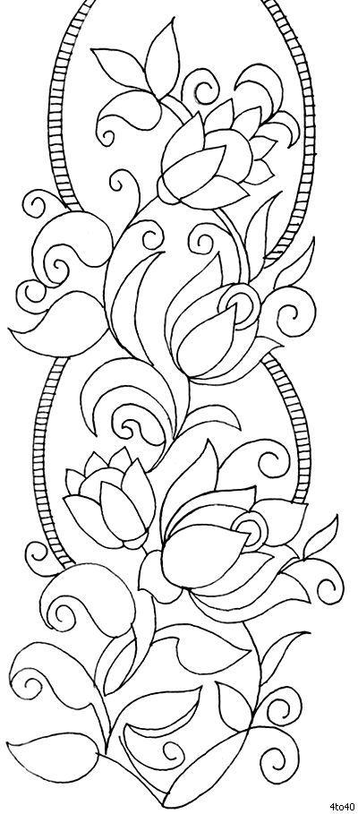 Indian Motifs Textile Pattern, Sarika Agarwal Textile Border Pattern 3, Indian Motifs Dynamic Textile Patterns, Textile Guide Madhya Pradesh India