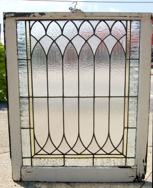 Vintage Stained Glass Windows | ... :: Antique Stained Glass :: Antique_Leaded_Glass_Window_29W_X_34H