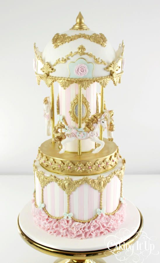 Pretty Carousel Cake - Cake by Caking It Up