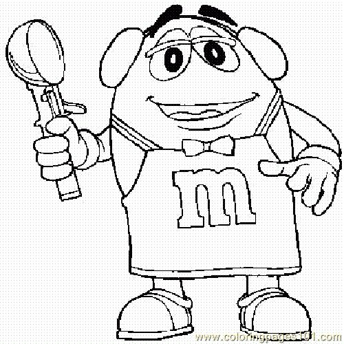 free printable m and m coloring pages for kids