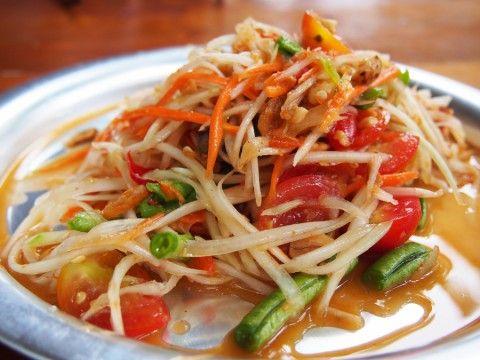 Som Tum -Thai green papaya salad                                                                                                                                                                                 More