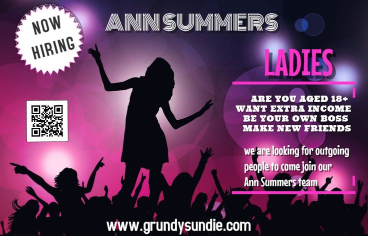Wanted! ladys 18+ to join grundysundie team working for Ann Summers, be your own boss work around.