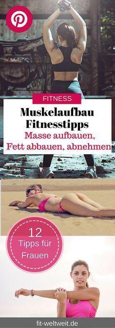 Muskelaufbau Fitnesstipps, die dich schnell zum Ziel bringen. Das richtige #Training. Dazu gibt es einen Trainingsplan mit den richtigen Übungen, Tipps zur Wiederholung, der Anatomie, nützliche Supplements und die effektivste Ernährung - besonders für Frauen. #Muskelaufbau für Frauen mit #Trainingsplan für zuhause (Auch für Anfänger geeignet), Ernährungsplan (welches Essen). Alles auf dem Blog.