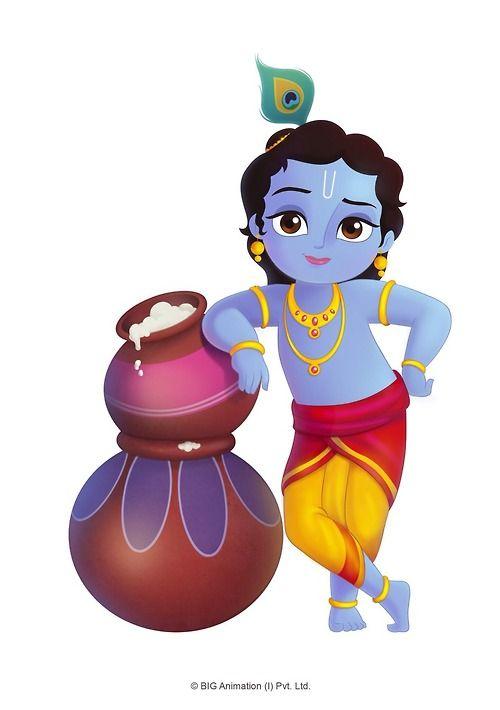 Sri krishna cartoon