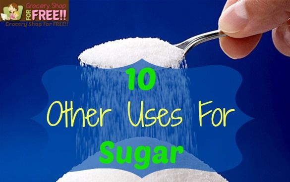 10 Other Uses For Sugar Today I am sharing 10 Other Uses For Sugar. Other than eating of course :). I have been totally sugar/fructose free for a bout 2 weeks now and Hubby has been for over a mont...