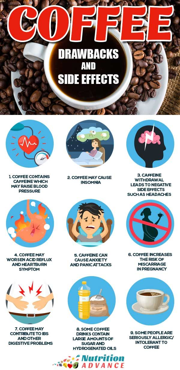 9 Negative Side Effects Of Drinking Coffee It S Not Healthy For Everyone Effects Of Drinking Nutrition Infographic Side Effects