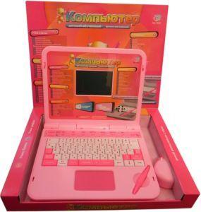 Англо- русский развивающий розовый ноутбук с интерактивной ручкой и мышкой  станет прекрасным подарком для девочки.