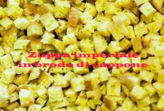 Zuppa imperiale in brodo di cappone  https://www.facebook.com/photo.php?fbid=4505943085118=a.1051032234506.2009806.1186755796=1