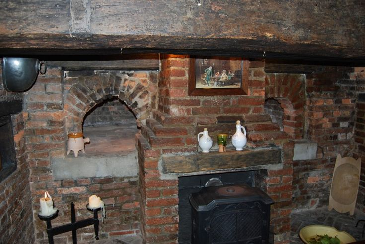 Fireplace With Bread Oven Bread Ovens Within Brick And