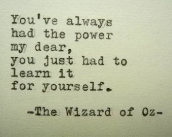 wizard of oz quotes | WIZARD OF OZ Quote Frank Baum Quote Typed on Typewriter ...