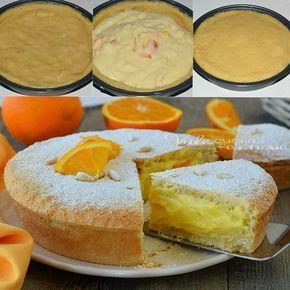 Torta della nonna con crema alle arance